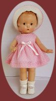 Patsy Doll Dress Set in Pink Dotted Swiss