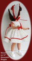Sweet Sue Doll Dress and Hat Set