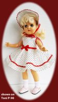 Toni Doll Dress and Hat Set, Summer Day
