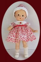 Patsy Doll Dress, with Matching Hat–Berry Cute