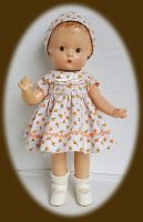 Patsy Doll Dress and Hat Set Peachy Keen