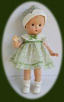 Patsy Doll Dress, 1930s Printed Organdy 2-piece