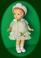 Patsy Junior Doll Dress in Printed 1920s Organdy