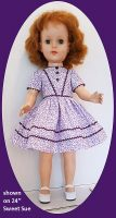 Sweet Sue Doll Dress Purple Print for 20 and 24″ Size