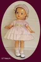 Patsy Junior and Patsyette Silk Dress and Hat
