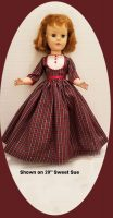 Christmas Dress for Sweet Sue, Size 17/18″ or 20″