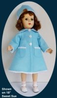 Sweet Sue Doll Blue Coat and Hat Set