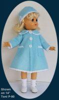 Toni Doll Blue Coat and Hat Set