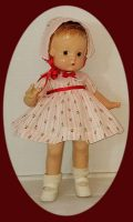 Patsy Doll Dress and Hat Set