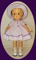 Patsyette and Patsy Junior Doll Dress and Hat Set