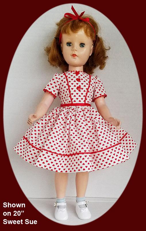 Sweet Sue Doll Dress Valentines Day