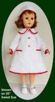 Sweet Sue Doll White and Red Coat