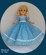 Toni Doll Dress of 1950s Flocked Nylon