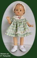 Patsyette Doll Dress and Hat Set in Silk Taffeta