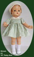 Patsy Ann Doll  Dress and Hat set in Silk Taffeta