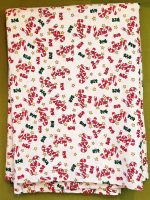 Fabric, Christmas Small Print, 1 and 1/2 yds by 44″