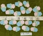 Trim, Silk Flower Appliques, 29 Ct. Asst. Pinks and Blues, 19 Ct.