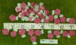 Trim, Silk Flower Appliques, 35 Pcs.
