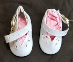 Sweet Sue Doll Shoes  for 20″ Doll Dressy White